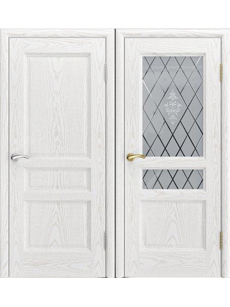 Купить дверь Джаз ясень альба