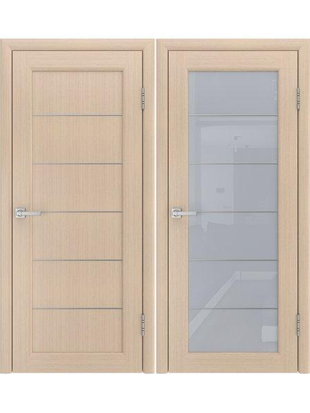 Купить дверь Модерн-3 беленый дуб