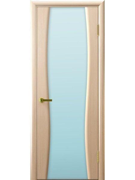 Ульяновская дверь с триплексом Клеопатра 2 беленый дуб