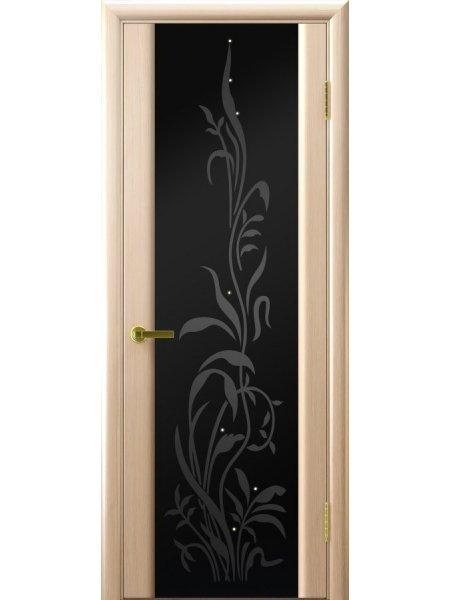 Ульяновская дверь Трава 2 беленый дуб