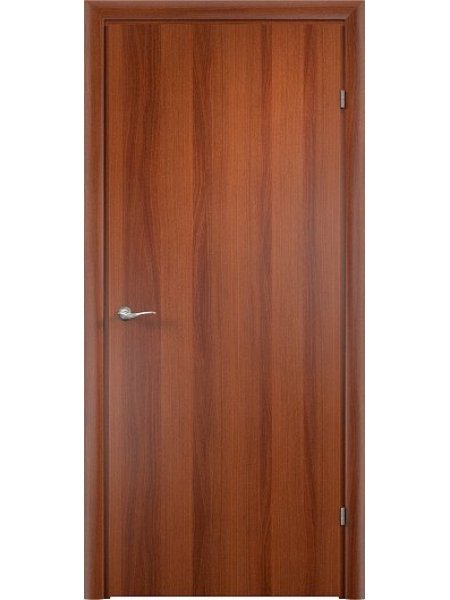 Межкомнатная дверь ДПГ итальянский орех с притвором (четвертью) с врезанным замком и петлями