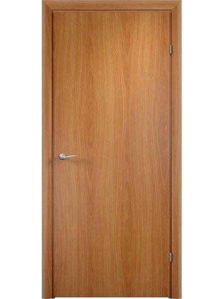 Межкомнатная дверь ДПГ миланский орех с притвором (четвертью) с врезанным замком и петлями