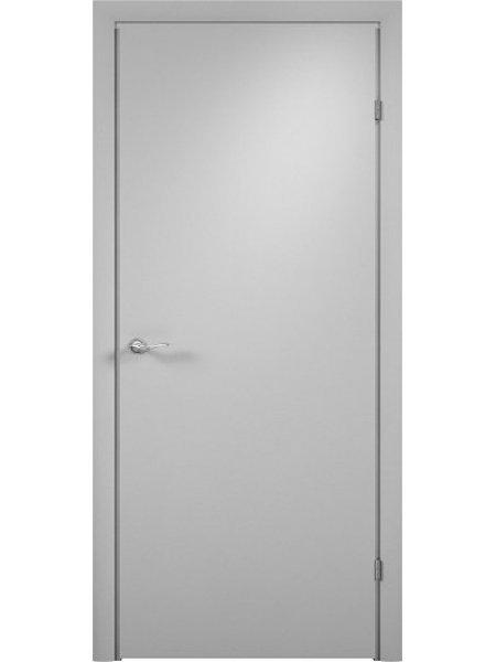 Межкомнатная дверь ДПГ серая с притвором (четвертью) с врезанным замком и петлями