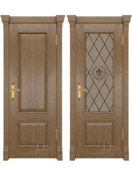 Купить дверь Цезарь 1 американский дуб светлый от производителя DioDoor