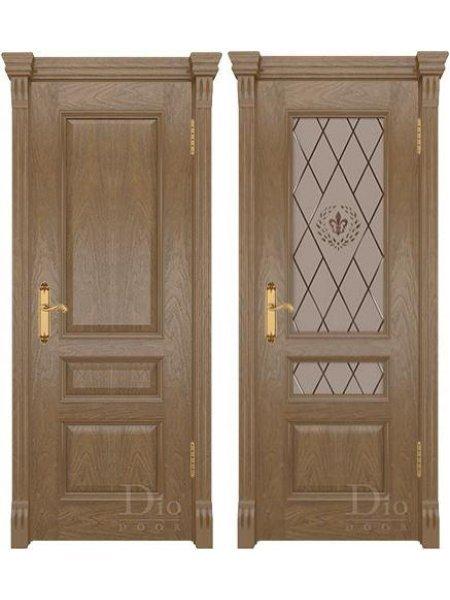 Купить дверь Цезарь 2 винтаж американский дуб светлый от производителя DioDoor