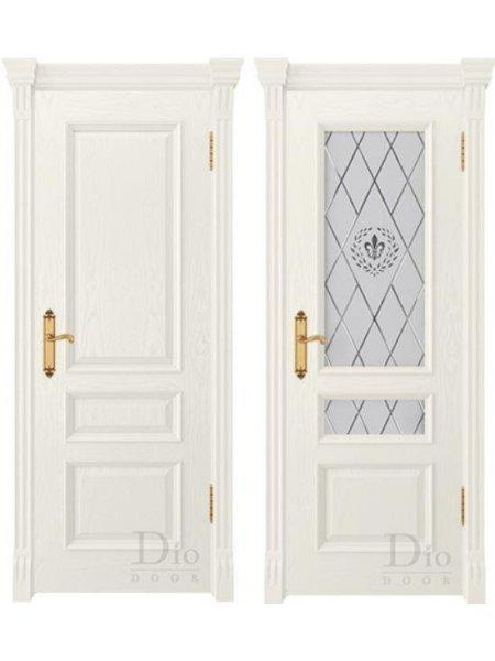 Купить дверь Цезарь 2 винтаж ясень жасмин от производителя DioDoor
