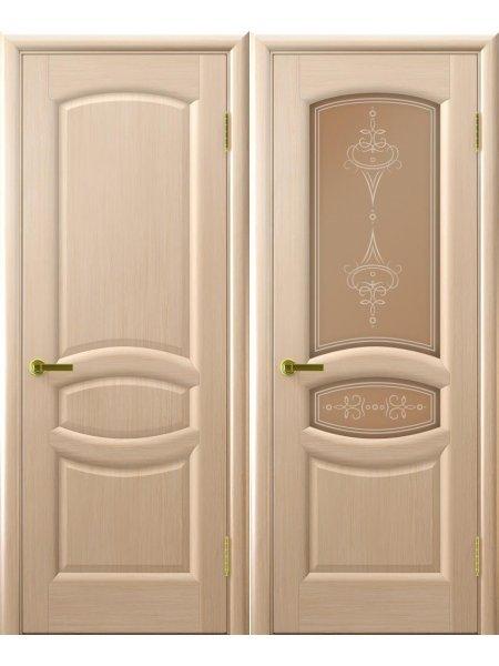 Двери ульяновские Анастасия беленый дуб купить в Москве