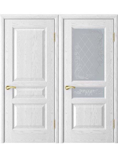 Двери ульяновские Атлант 2 ясень белая эмаль купить в Москве