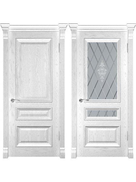 Межкомнатная дверь фабрики Люксор Фараон 2 дуб белая эмаль
