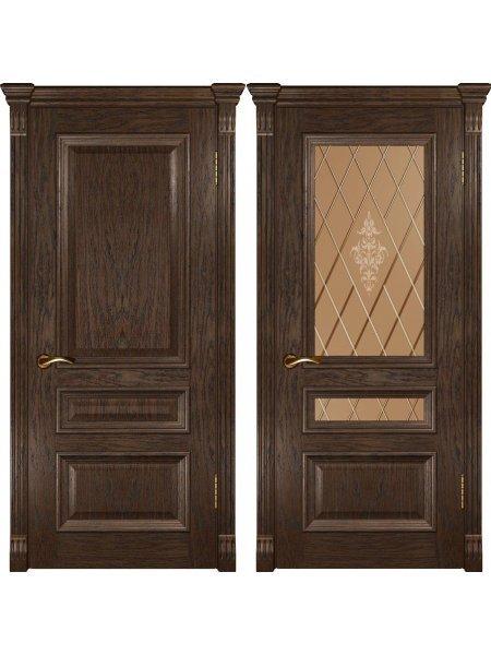 Межкомнатная дверь фабрики Люксор Фараон 2 мореный дуб