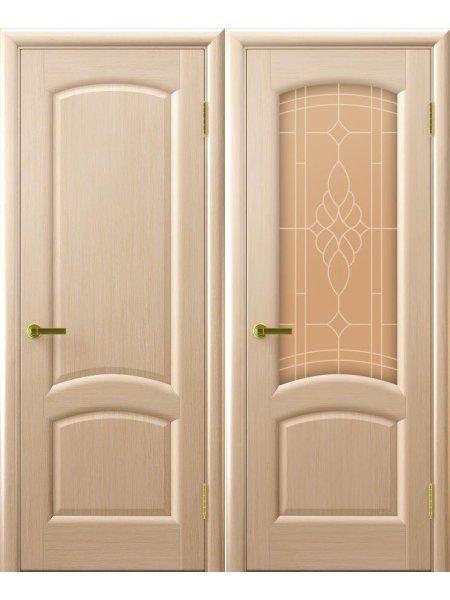 Двери ульяновские Лаура беленый дуб купить в Москве
