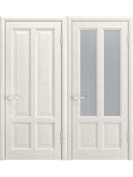 Дверь Титан-3 дуб RAL9010