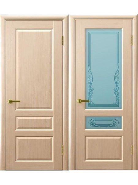 Двери ульяновские Валентия 2 беленый дуб купить в Москве