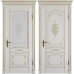 Vesta Bianco Classic PG классического стиля двери в экошпоне с патиной