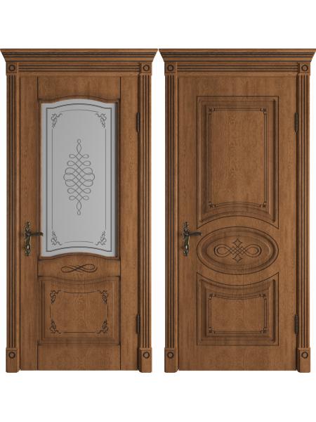 Vesta Honey Classic PB классического стиля двери в экошпоне с патиной